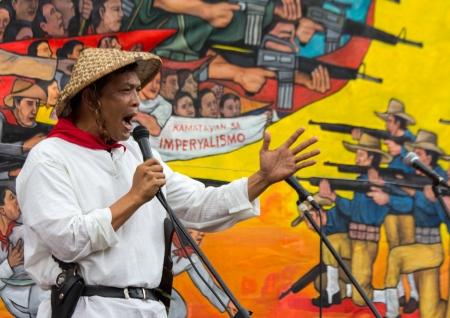 president???s: Manila, Filippine-30 novembre 2013 filippini in tutto il paese ha tenuto proteste durante il 150 � anniversario del paese s eroe della classe operaia Andres Bonifacio contro l'attuale presidente per presunta negligenza criminale dopo il tifone Yolanda
