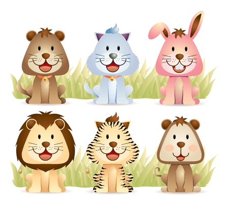 Animal Collection Stock Vector - 10994337