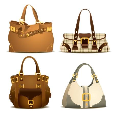 hand bag: Mujer colecci�n de bolsos Vectores