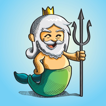 poseidon: Happy Cute Poseidon