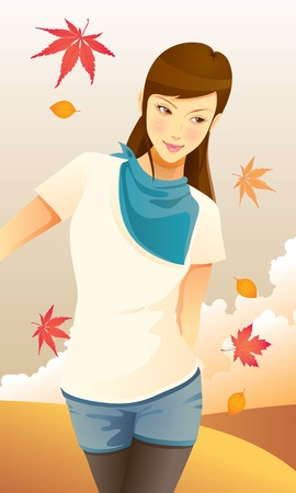 Autumn Girl Stock Vector - 11068261