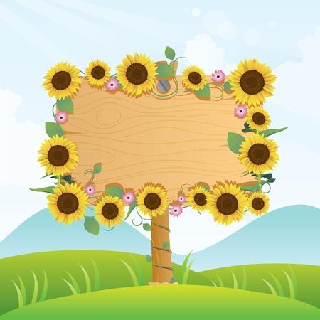 Summer Wood Signage Illustration