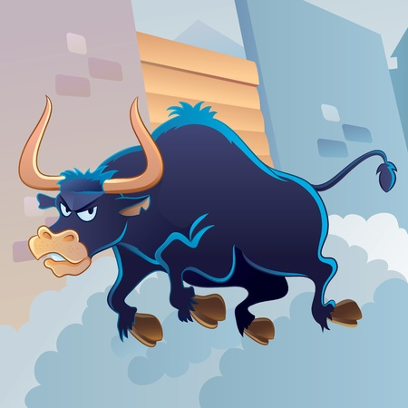 Angry Bull Stock Vector - 11108299
