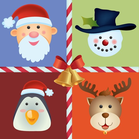 santaclaus: Christmas Icon Set Illustration