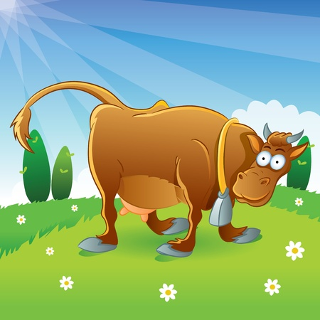 Cow Illustration Cartoon Stock Vector - 11108343
