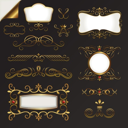 Gold Border Vector Set