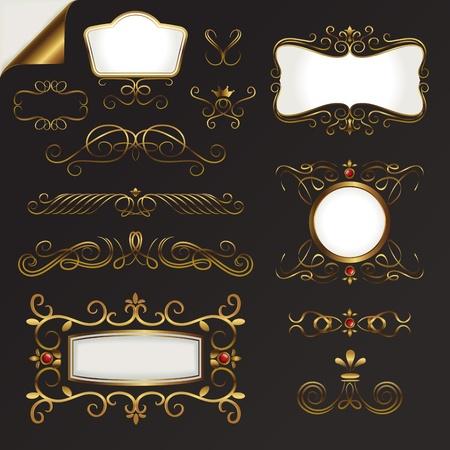 Gold Border Vector Set