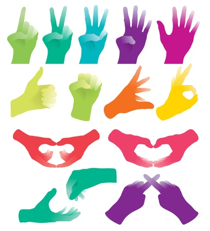 hand pointing: Hand Sign Collections Illustration