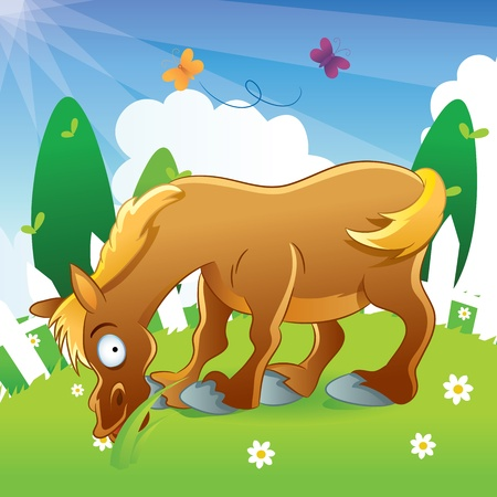 Horse Illustration Cartoon Vector