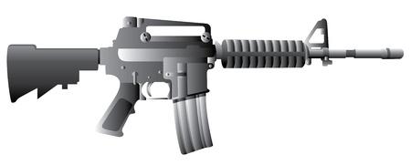 M16 Gun Rifle Stock Vector - 11108283