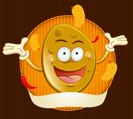 Potato Chips Mascot Vector