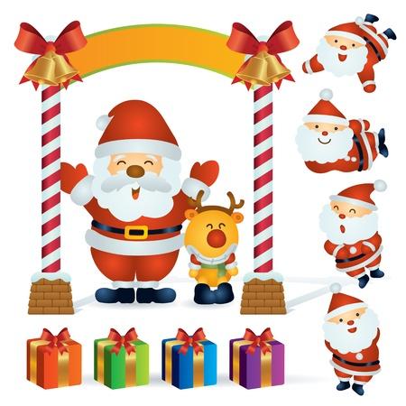 enano: Santa y Reno