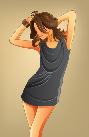 Sexy Woman with Short Dress Stock Vector - 11108318
