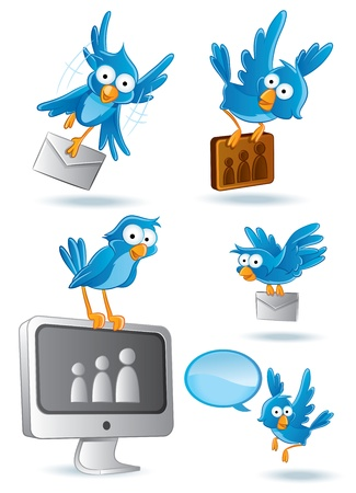 blue signage: Social Media Network Bluebird