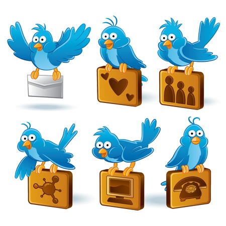 Social Media Network Bluebird Stock Vector - 11108317