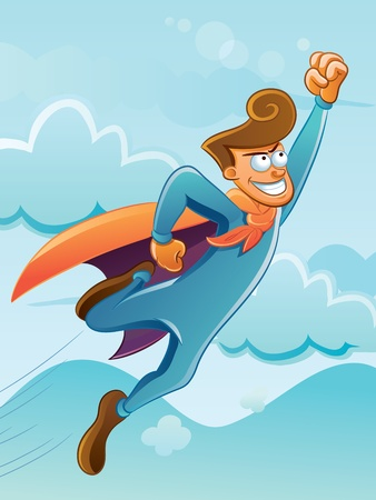 superpower: Funny Flying Super Hero
