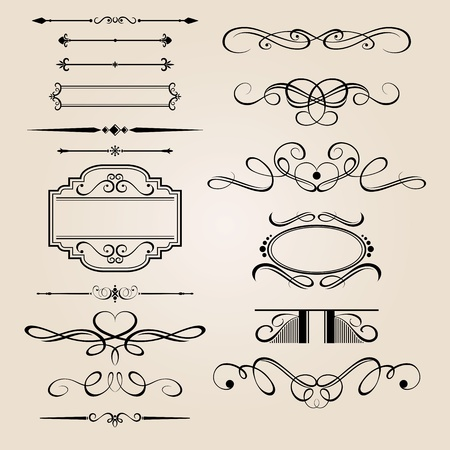 flourish: Vector Set Border Design Element