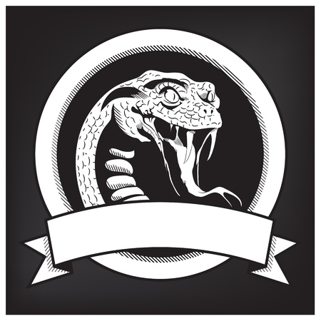 reptiles: Snake Illustration Emblem