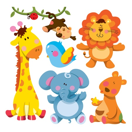 Cute Animals Collection Stock Vector - 11573013