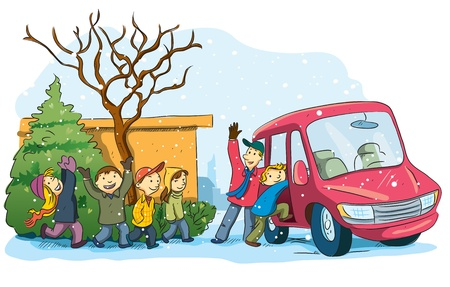 winter car: Christmas Holiday Vacation