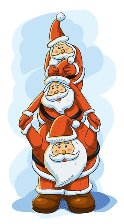 Funny Santa for Christmas Greeting Vector