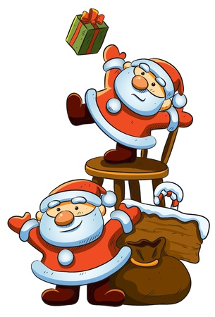 enano: De Papá Noel Vectores