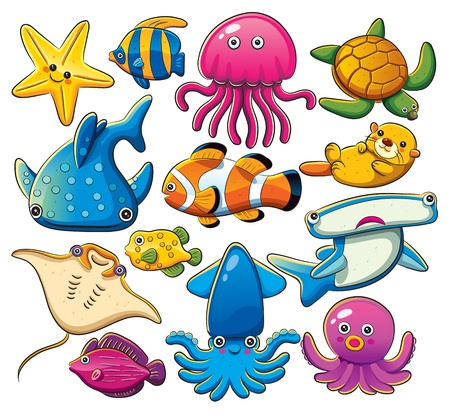 squid: Sea Animals Collection Illustration