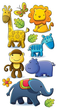 Cute Animals Collection Stock Vector - 12480670