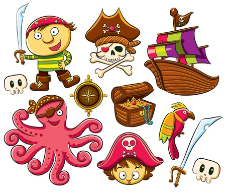 calavera pirata: Pirata conjunto de recopilaci�n