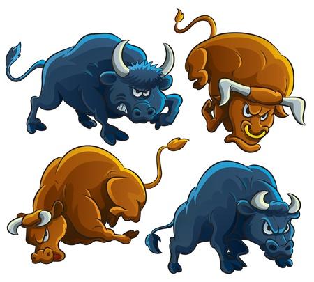 Angry Bulls Illustration