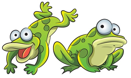 frog illustration: Funny Frog