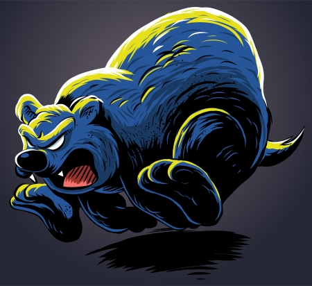 angry bear: Oso enojado