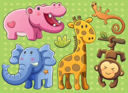 cartoon tier: Cute Animals Kollektion Illustration