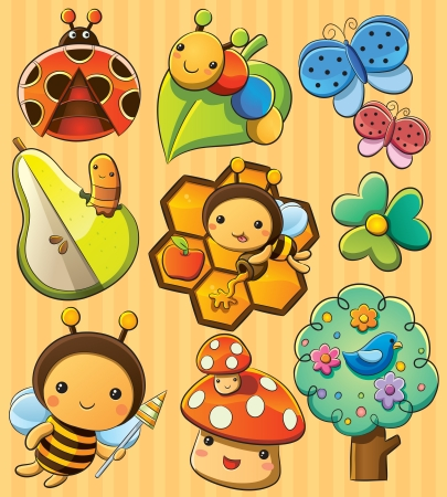 Cute Bugs Illustration
