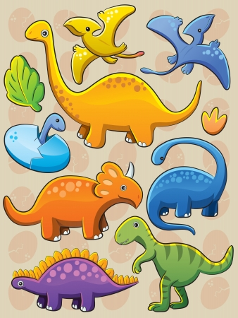 Dinosaurs Collection Stock Vector - 13610742