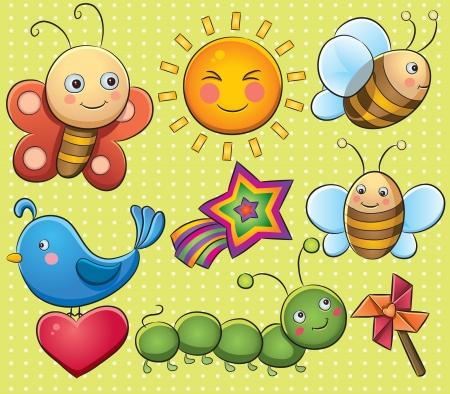 gusano caricatura: Bichos lindos