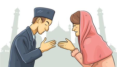 Ramadan Forgiveness Vector