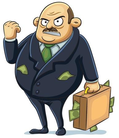 hombre calvo: Mafia Angry Vectores