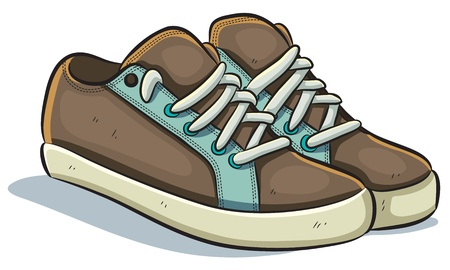 shoes cartoon: Casual Sneakers