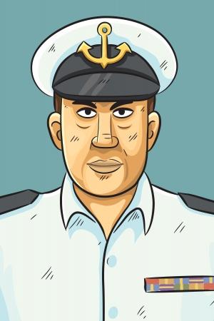 firm: Navy Portrait Illustration