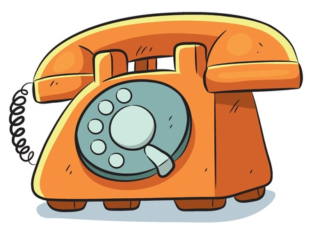 old phone: Old Phone Illustration
