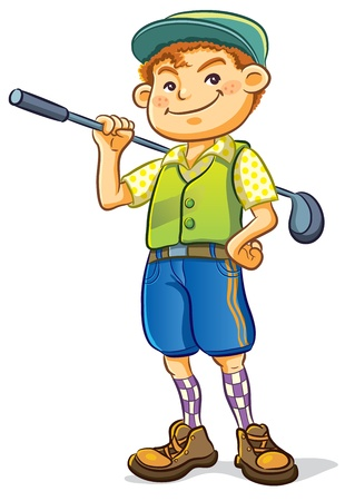 Golf Boy Vector