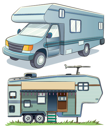 cartoon illustration of a RV car Stock Vector - 27886296