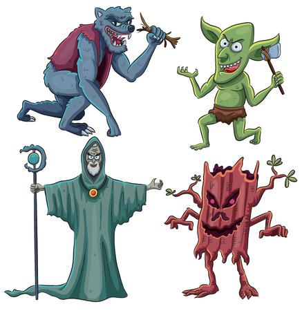 goblin: cartoon illustration of scary creatures