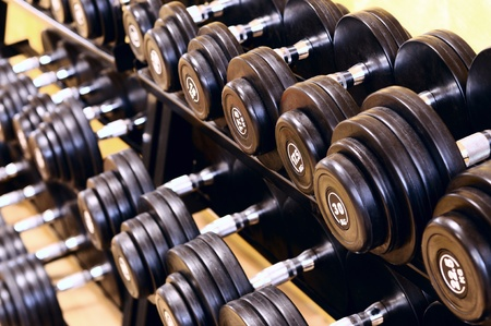 barbell: Shot of a weight training equipment