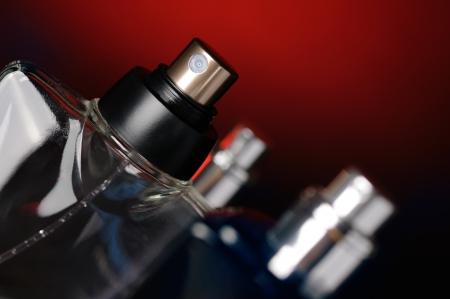 Bottles with perfume close up  Selective focus 版權商用圖片