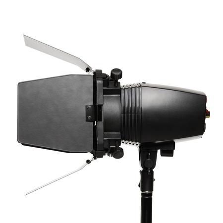barndoor: Studio light with barndoor isolated on white background