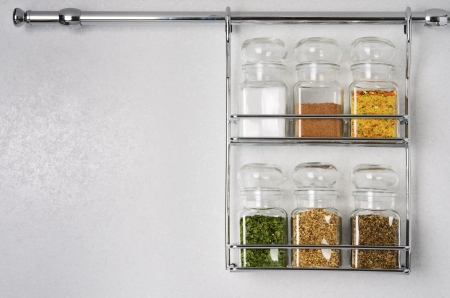 Bottles with spices and seasonings  With space for your text