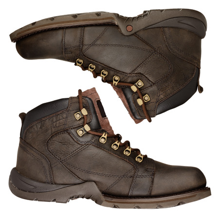Hiking boots isolated on a white background 版權商用圖片