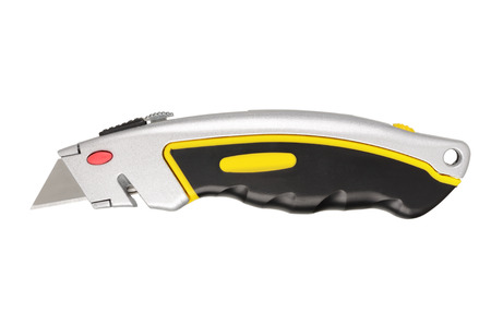 utility knife: Utility knife isolated on white background. With clipping path Stock Photo